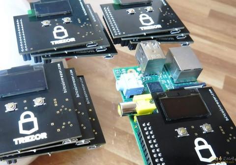 硬件钱包trezor给开发者分发树莓派开发板
