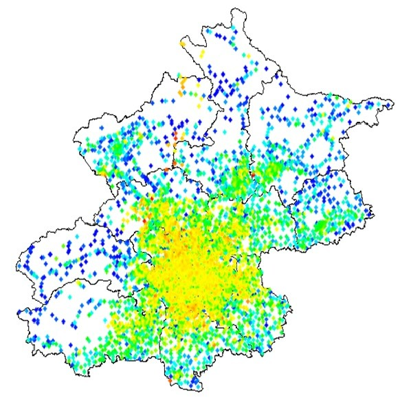 人口密度_北京市人口密度图