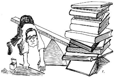 读书报告会图片手绘黑白