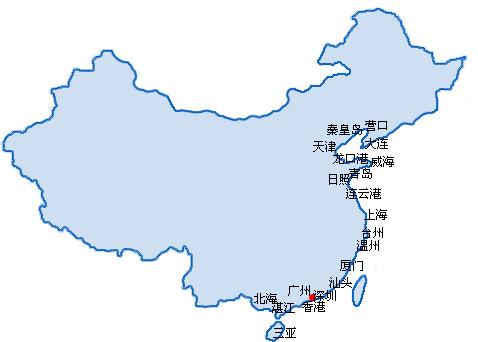 中国主要港口图4