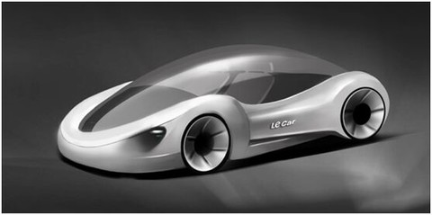 硅谷基地超级汽车科幻般的设计概念图流出
