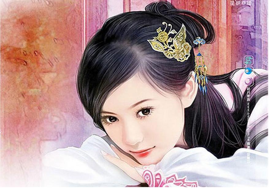 古典美女琵琶漫画