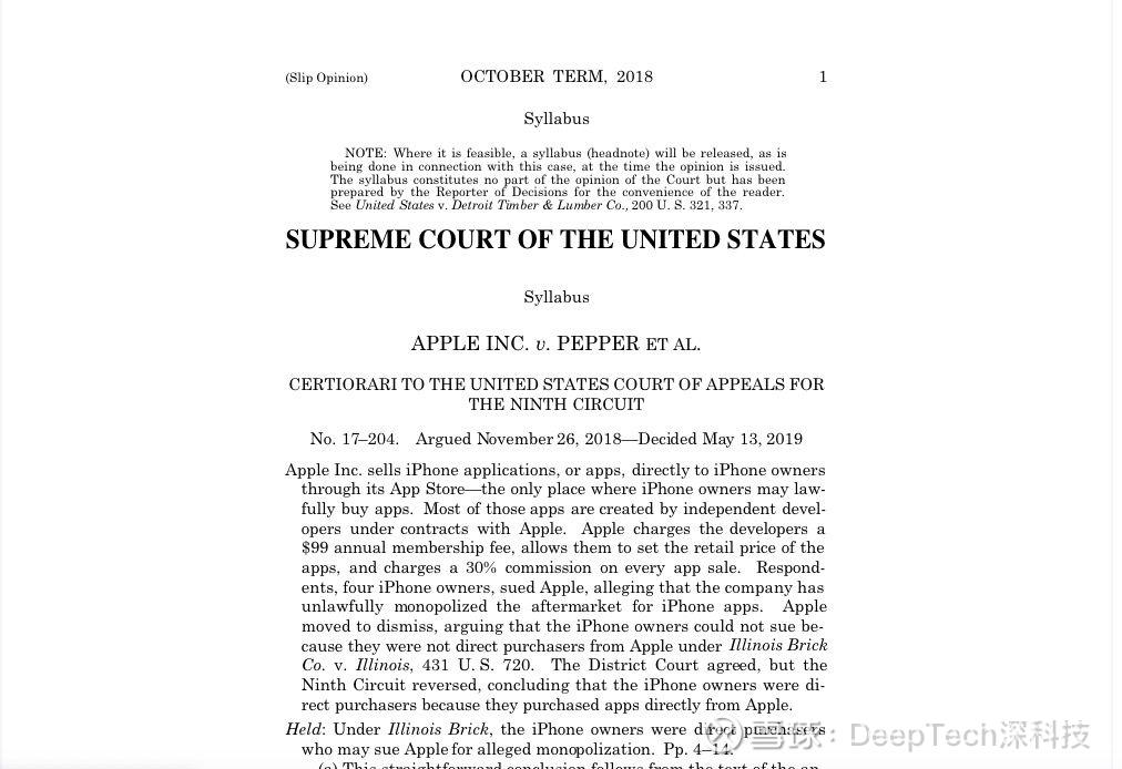 aba6a05453cf8 接下来,法院还会与苹果公司和消费者就此案进行审理,若消费者在该诉讼中获胜,苹果公司可能将面临数亿美元的罚款,以及调整其平台上销售应用的方式,取消30%  的抽成。