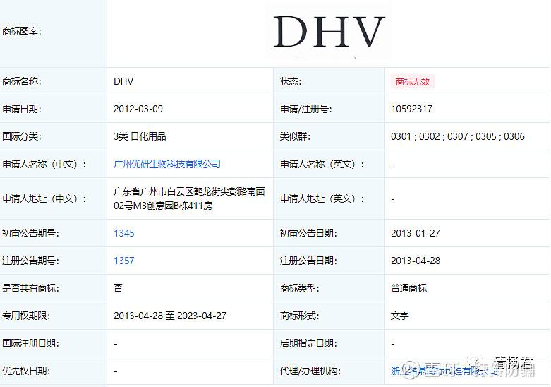 揭秘DHV商标背后的故事虚假宣传何时休